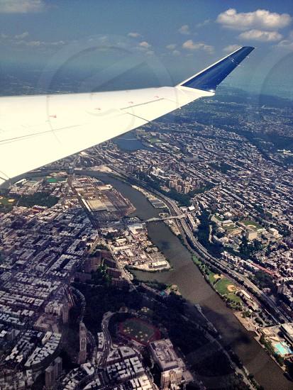 Plane takeoff New York City  photo