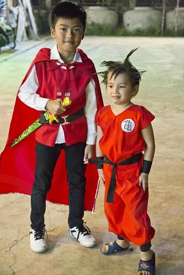 Kids wearing costum photo