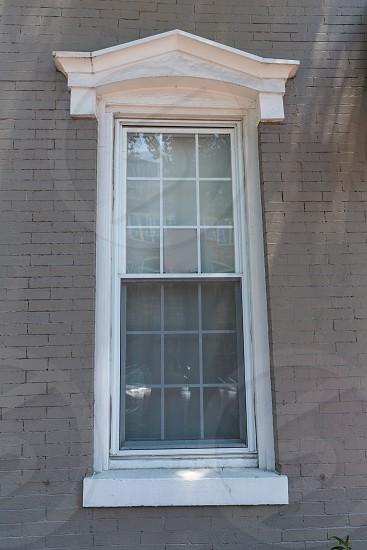 Georgetown townhouses facades window detail Washington DC in USA photo