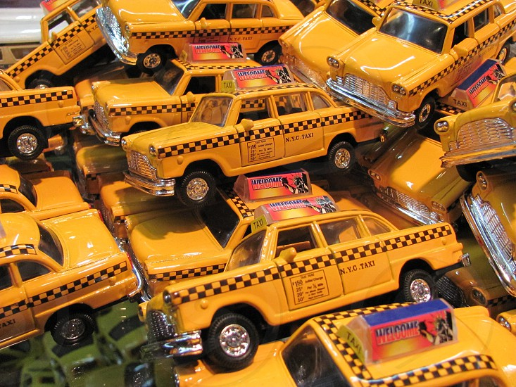 Toy Cars New York City Taxi Cabs photo