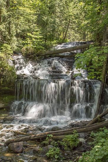 Wagner Falls Muinising Michigan. photo
