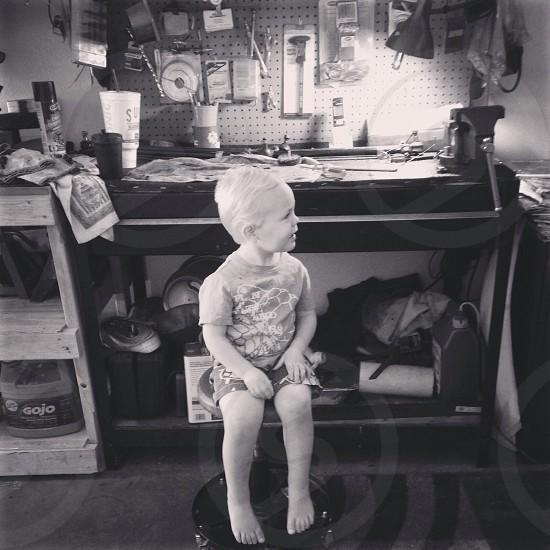 Children workshop garage photo