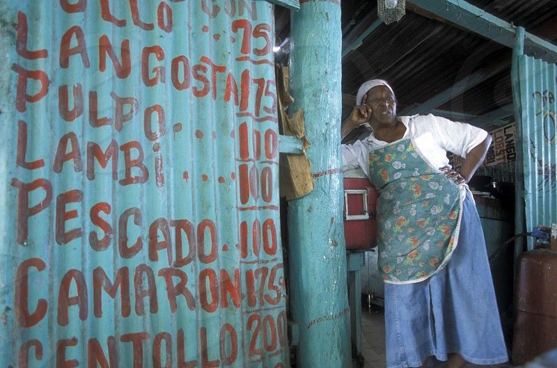 a shop at the Village of Las Terrenas on Samanaon in The Dominican Republic in the Caribbean Sea in Latin America. photo