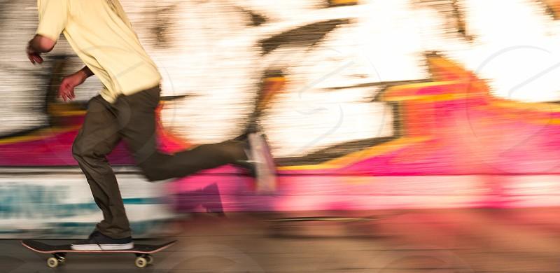 Skateboarder south bank London  photo