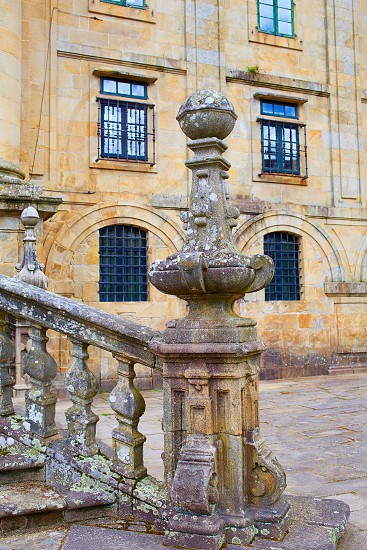 Santiago de Compostela end of Saint James Way San Matino Pinario monastery in Galicia Spain photo