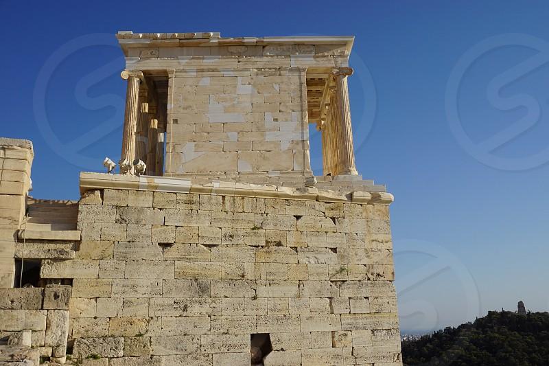 Temple of Athena Nike on the Acropolis in Athens Greece photo