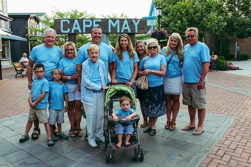 Family vacation family vacation beach cape may New Jersey jersey shore summer  photo