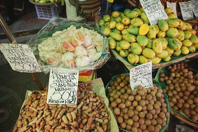 street food manila fruits Phillipines photo