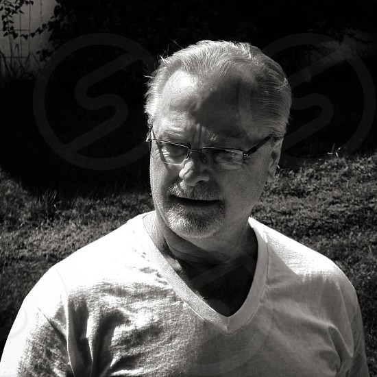 manold manblack and whiteold man photo