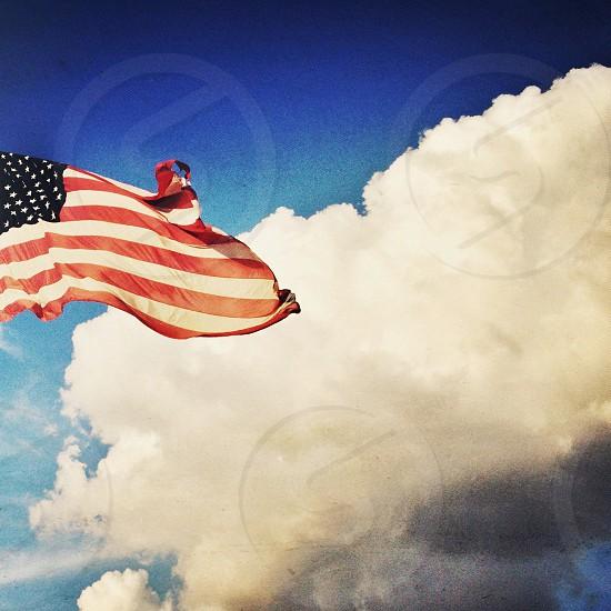 """Banner Cloud"" flag usa cloud sky patriotic photo"