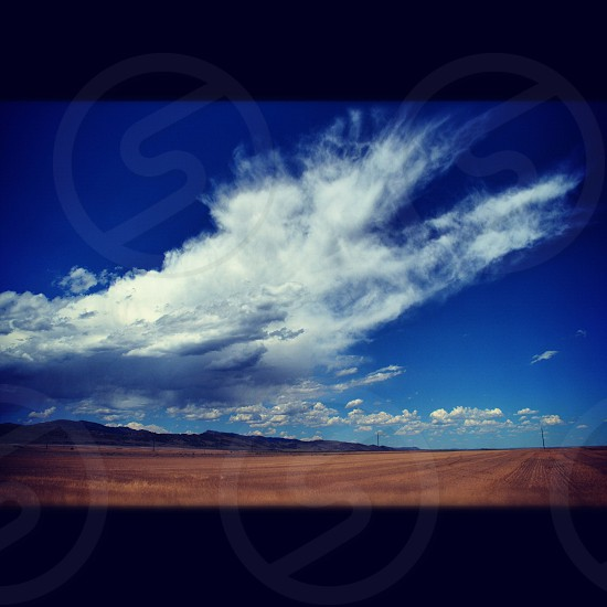 blue and white sky photo