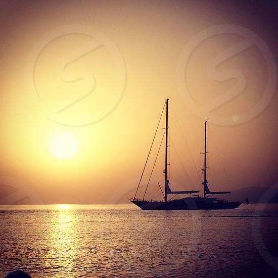 The stunning Mykonos sunset Greece photo