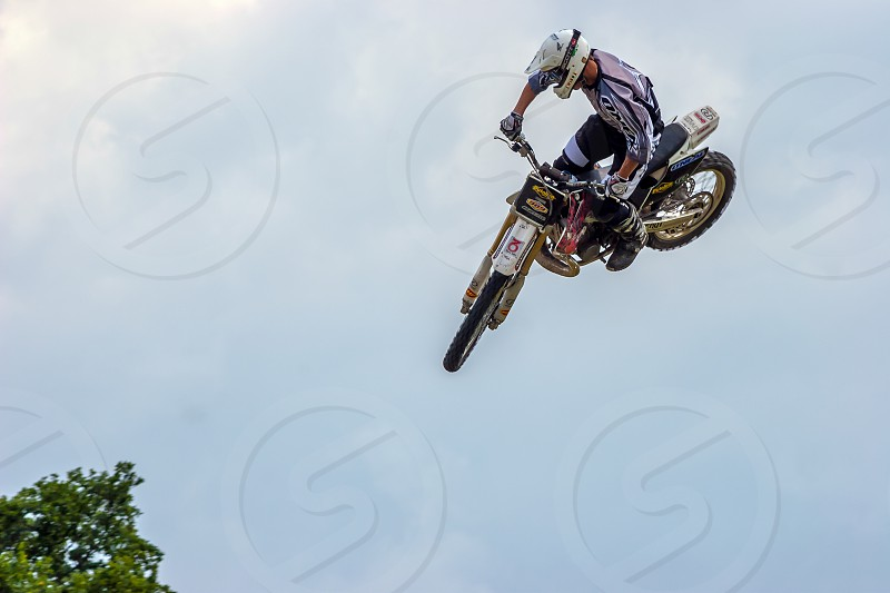 Stunt Motorcyclist at the Hop Farm in Kent photo