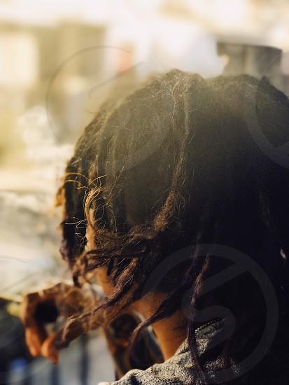 Portrait hair hair style dreadlocks cigar smoke street style  photo