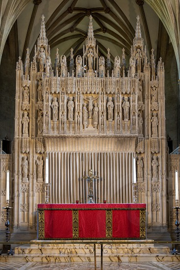 BRISTOL UK - MAY 14 : Interior view of the Cathedral in Bristol on May 14 2019 photo