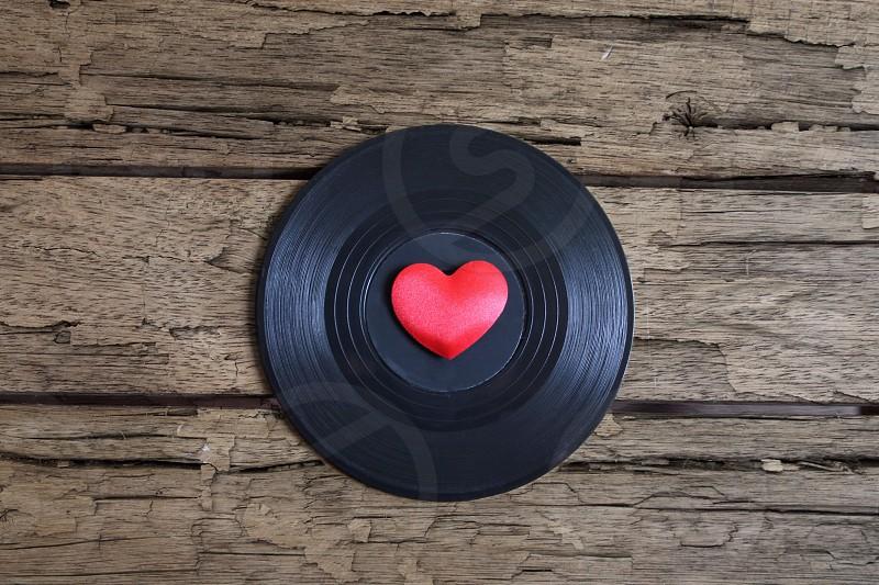 Vinyl record album music sound valentines day love passion photo