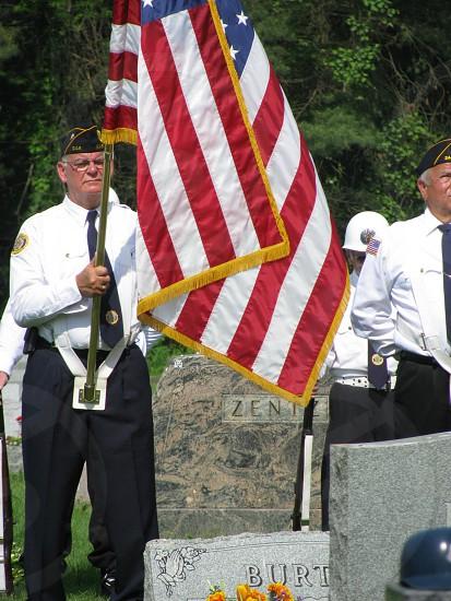 Veteran America flag holiday  photo