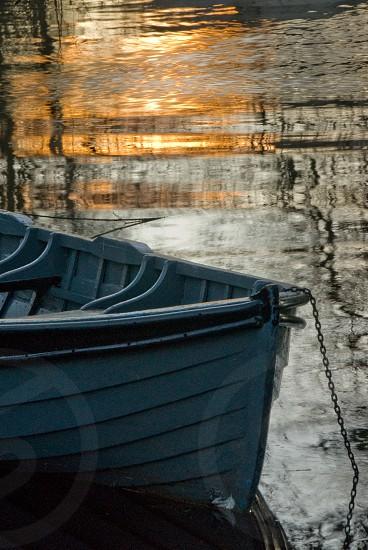 Evening peace - rowing boat at Ross Castle Killarney Ireland photo