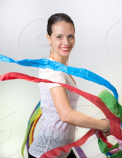 Spanish girl with streamers 2 photo