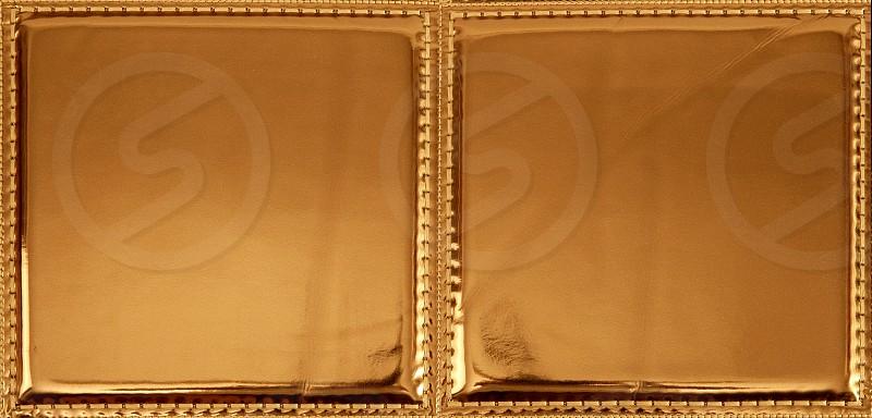 Golden plastic fabric seamless pattern texture background photo