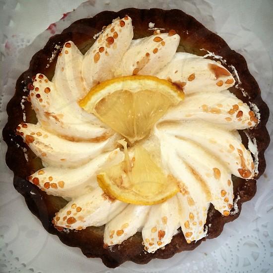 Lemon pie tart photo