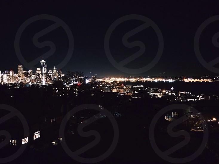 The city lights.  photo