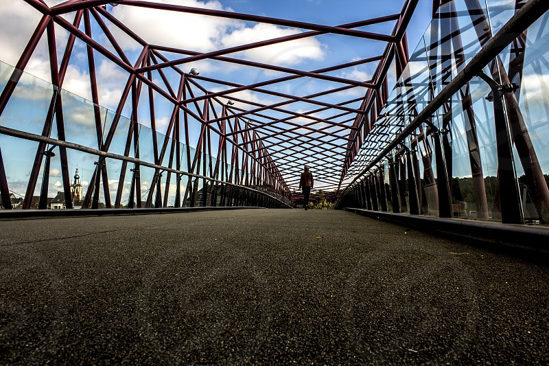 bridge inspiration silhouette journey walk sky perspective photo