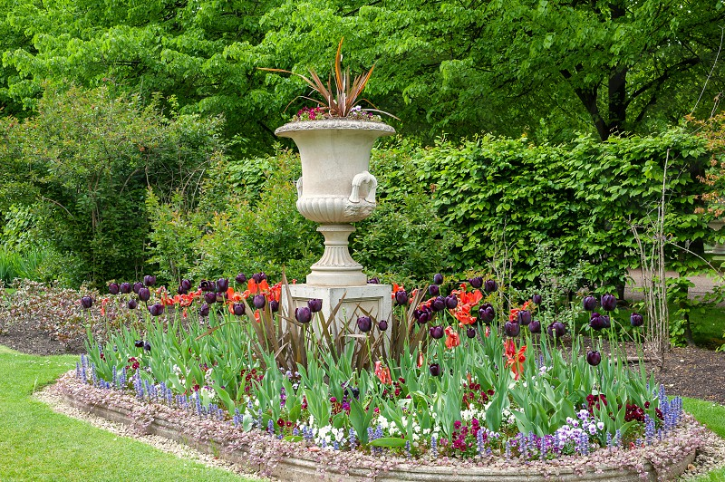 London UK. Regent's Park in city centre. Traditional English style of Royal Garden. photo