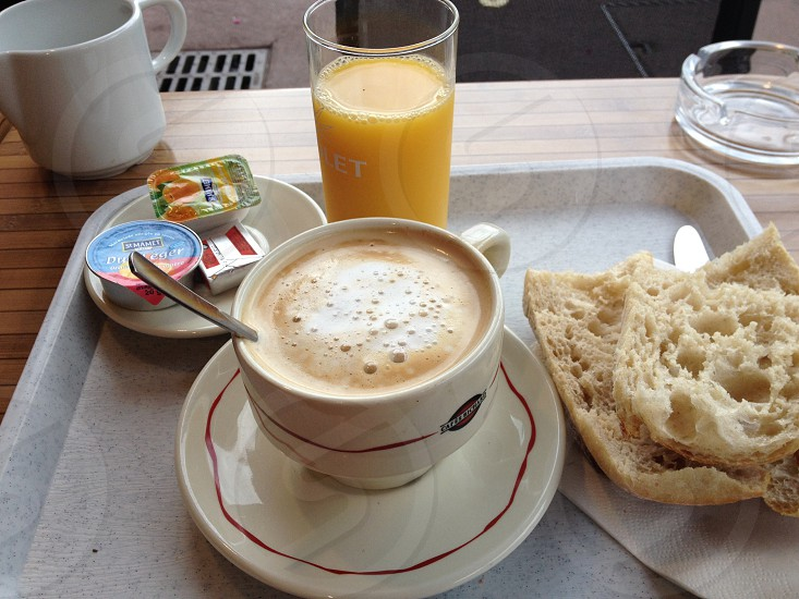 Breakfast • French breakfast • Coffee photo