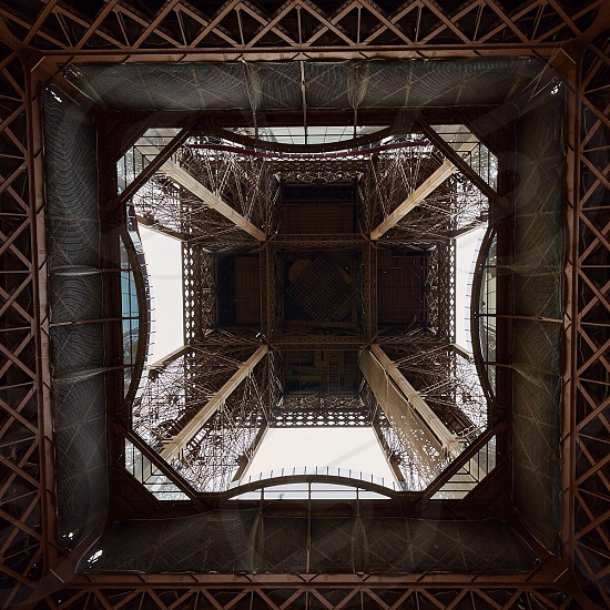 Underbelly of Eiffel Tower photo