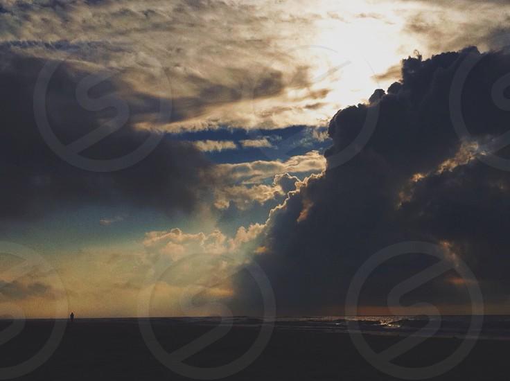gray clouds photo photo