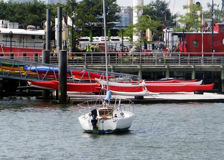 sailboat boat red river canoe photo