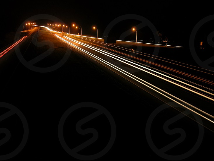 Freeway headlights photo