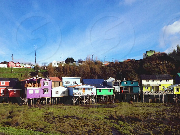 houses standing on stilts photo