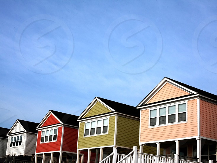 Beach; simplicity; architecture; color; houses; vacation; travel photo