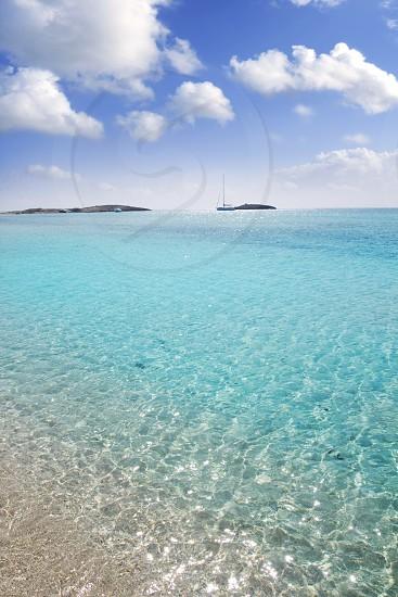 Formentera beach illetas white sand turquoise water perfect Balearic paradise photo