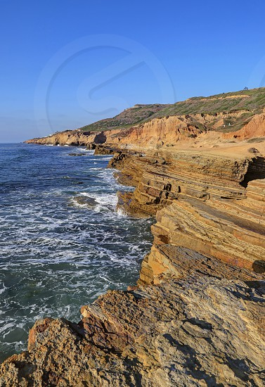 Landscape of the Southern California coast outside of San Diego. photo