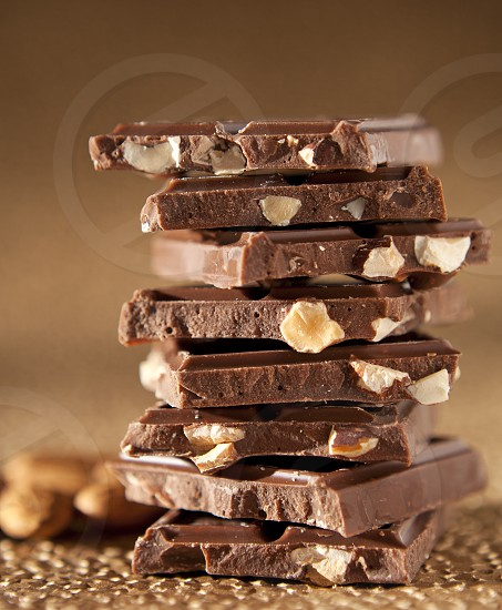 Chocolate Bar with Almonds Tower photo