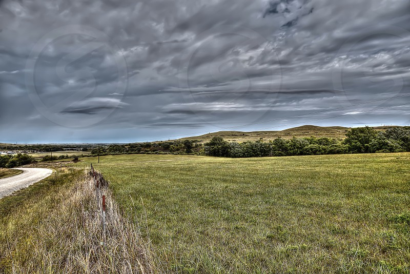 Ominous-looking clouds blanket the Kansas plains on 9/23/14. photo