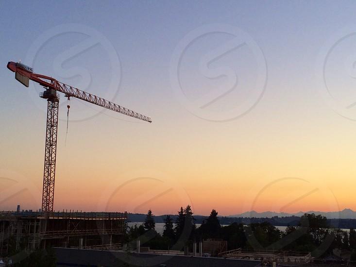 Sunset crane photo