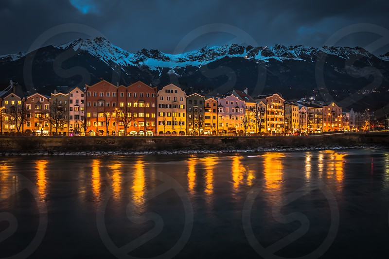 Lights and Colours of Innsbruck Tyrol Austria. photo