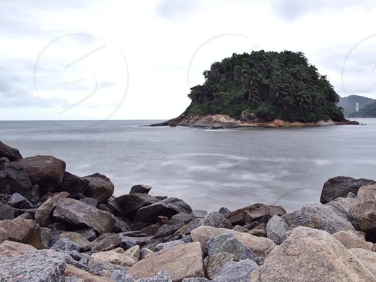 green island on sea photo