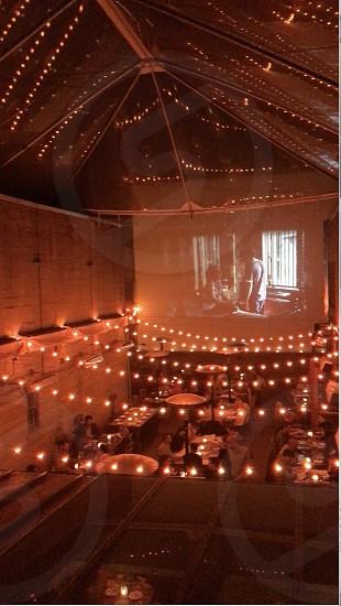 Interior shot of Foreign Cinema courtyard photo
