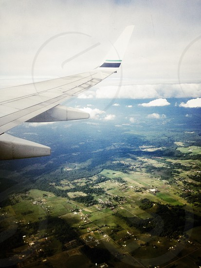 land view from a plane photo