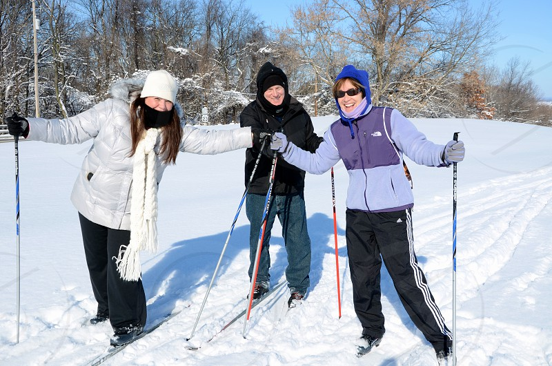 Cross Country Skiing Winter Wisconsin Old People photo
