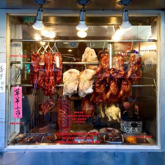 cook chicken in rotisserie photo