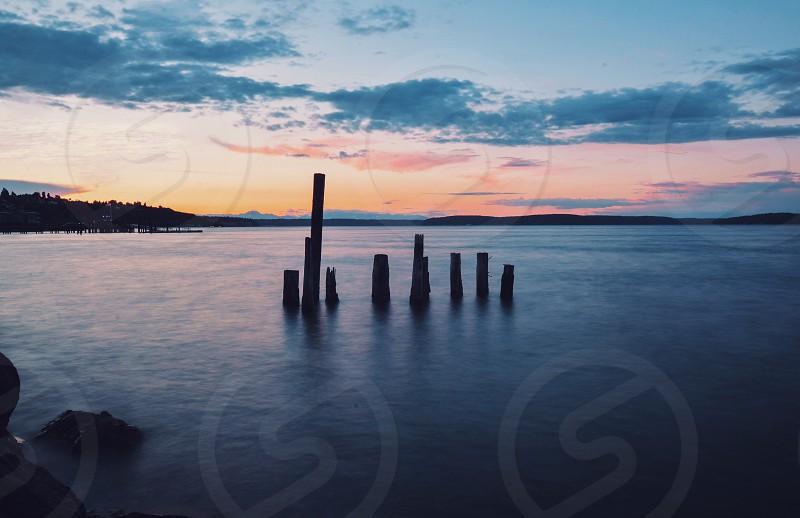landscape sunset  photo