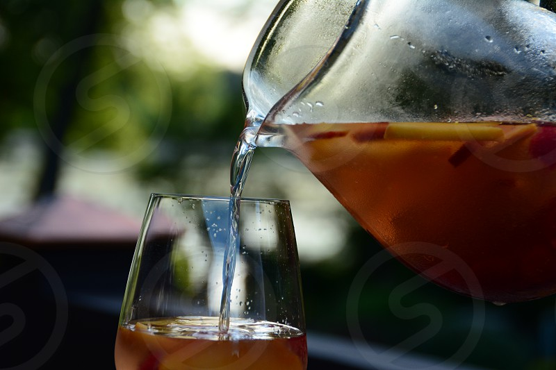 summer drink fruit cocktail pitcher photo