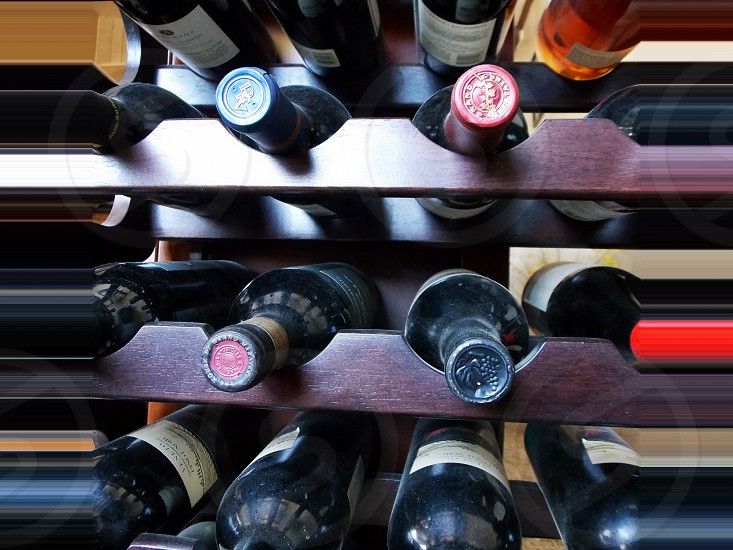 Abstract Wine Rack photo
