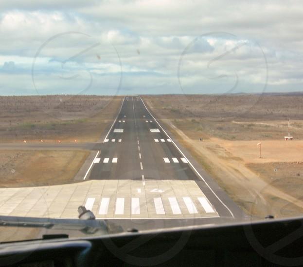 Preparing to land in San Cristobal-Galapagos Ecuador photo